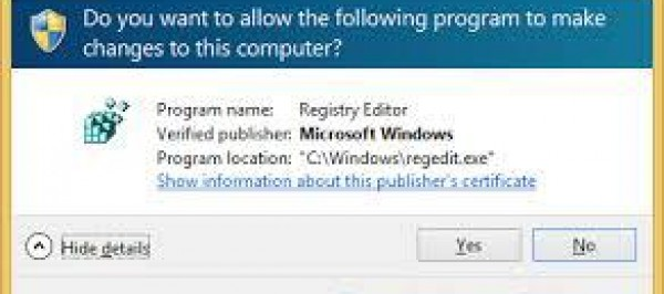 Controle Conta de Usuario (UAC) Windows 7 no Regedit