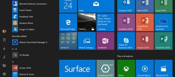 Menu Iniciar Windows 10 não abrem