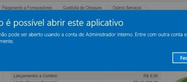 Não é possível abrir esse aplicativo