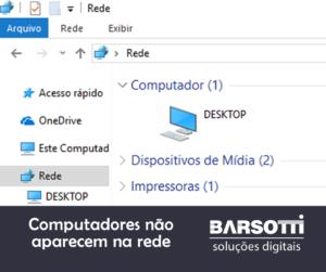 Computadores não aparecem na rede pelo Windows Explorer